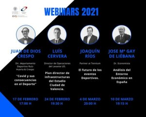 Webinars Cátedra Deporte UPV 2021 Q1