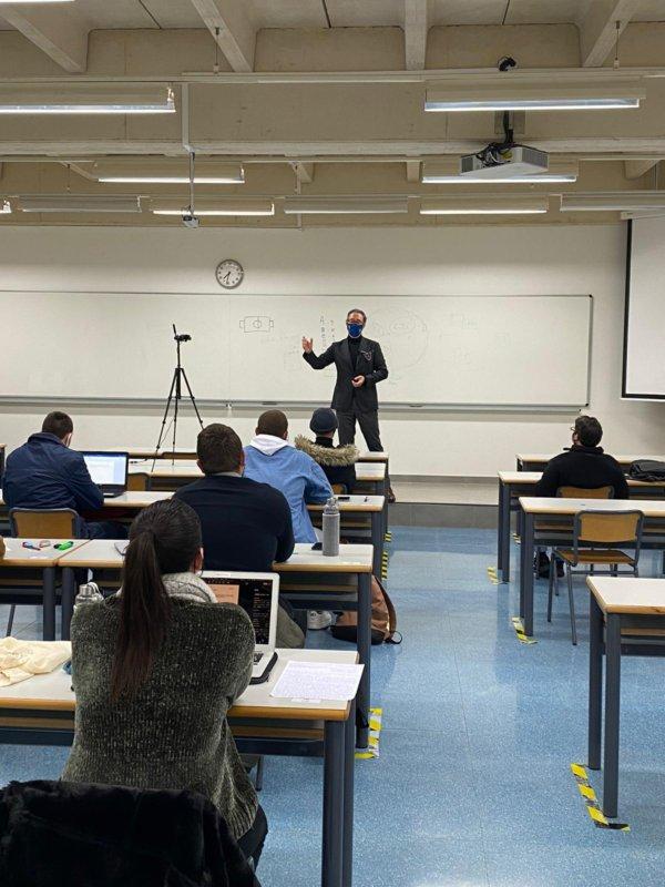 Juan de Dios Crespo, primera clase enero 2021