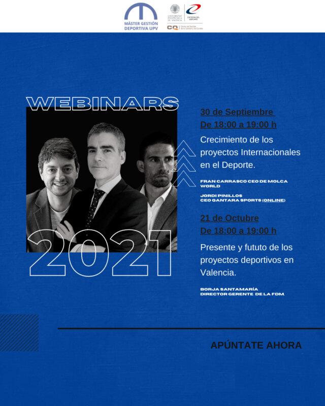 Cartel Webinars Septiembre-Octubre 2021